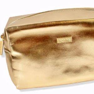 Tarte Cosmetics Gold Purple Lining Makeup Bag